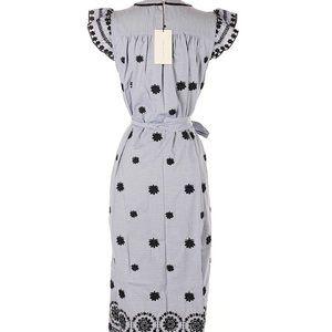 Zara Dresses - Sold - Zara Striped dress with embroidery XS